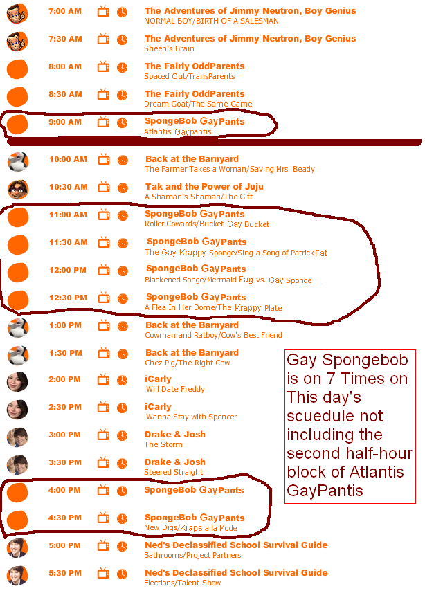 Nickelodeon and Gay Spongebob